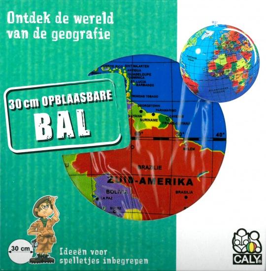 Caly opblaasbare wereldbol strandbal 30 cm