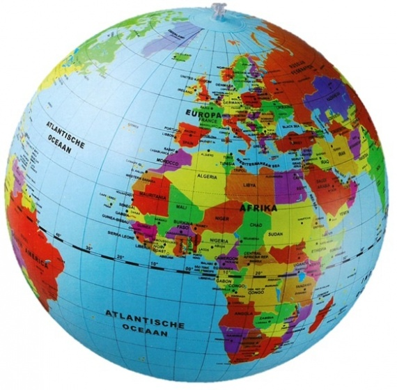Caly opblaasbare wereldbol strandbal 50 cm