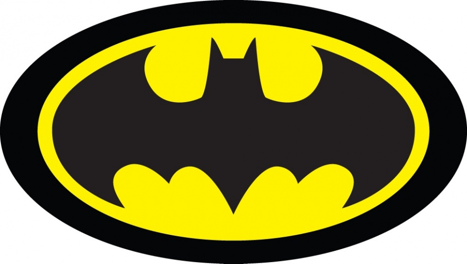 Carbotex kussen Batman logo zwart/geel 40 cm