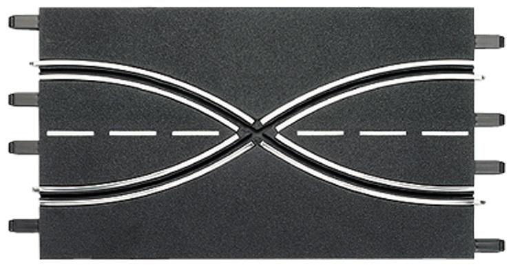 Carrera Baanstuk baanwissel 34,5 cm zwart 2 stuks