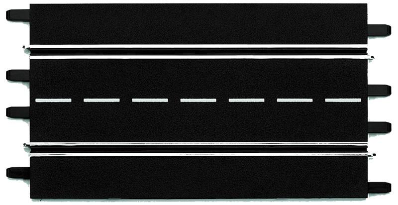 Carrera Baanstuk recht 34,5 cm zwart 4 stuks