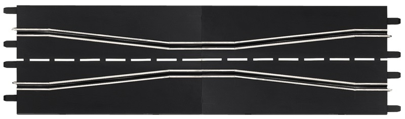 Carrera Baanstuk wegversmalling 34,5 cm zwart 2 stuks