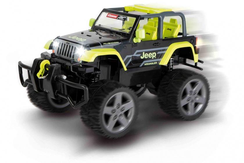 Carrera bestuurbare Jeep Wrangler Rubicon 1:16 RC zwart/groen