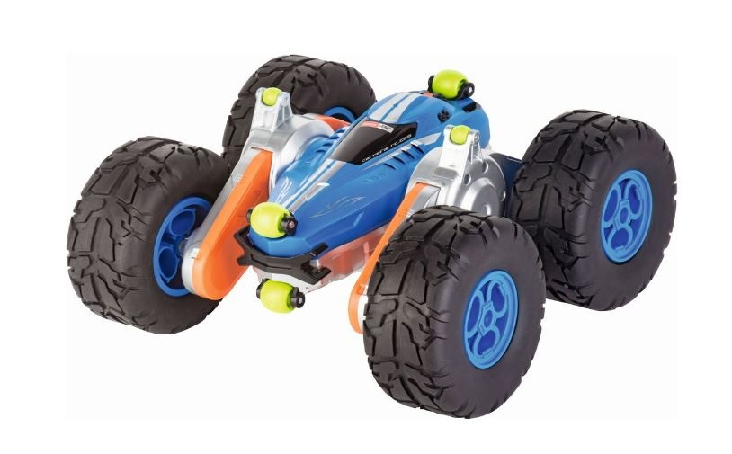Carrera bestuurbare stuntauto Turnator superflex blauw 28 cm