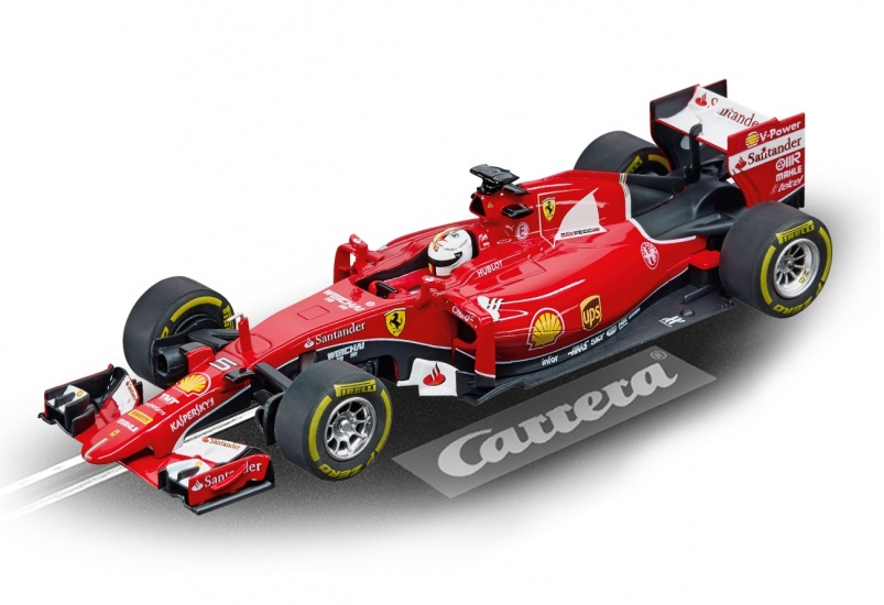 Carrera Digital 132 racebaan auto Ferrari SF15 T S.Vettel No.5