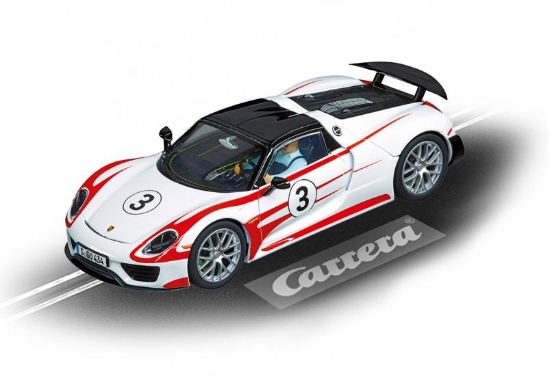 Carrera Digital 132 racebaan auto Porsche 918 Spyder No.3 wit