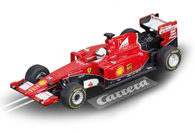 Carrera Digital 143 racebaan auto Ferrari SF15 T S.Vettel No.5