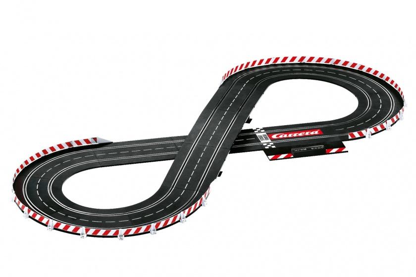 Carrera Evolution Lap Contest racebaan met auto's zwart 450 cm