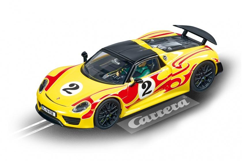 Carrera Evolution racebaanauto Porsche 918 Spyder 1:32 geel