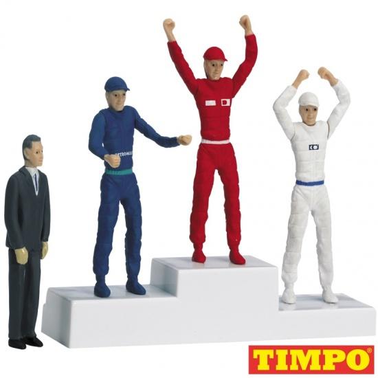 Carrera Formule 1 Winnaarspodium met 4 poppen 5,5 cm