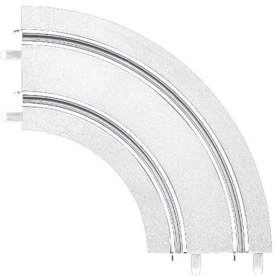 Carrera Go Bocht baanstuk 1/90 graden wit 2 stuks