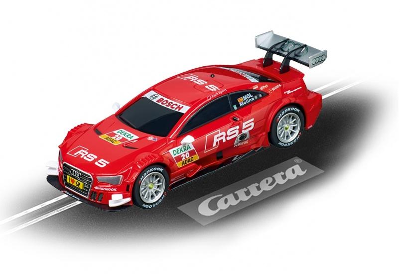 Carrera Go racebaan auto Audi A5 DTM M.Molina No.20 rood