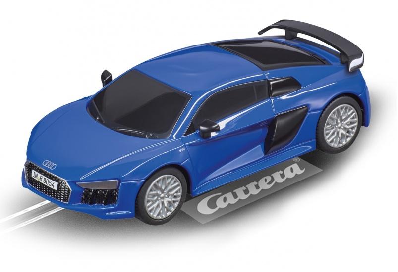 Carrera Go racebaan auto Audi R8 V10 Plus blauw