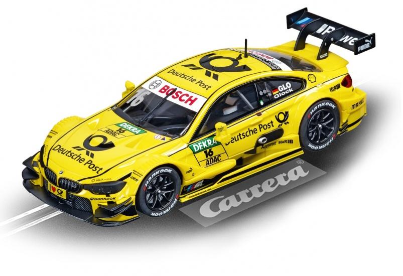 Carrera Evolution racebaan auto BMW M4 DTM T.Glock No.16 geel