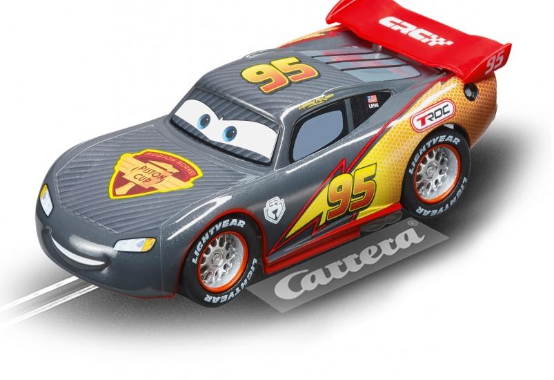 Carrera Go racebaan auto Carbon Lightning McQueen zilvergrijs