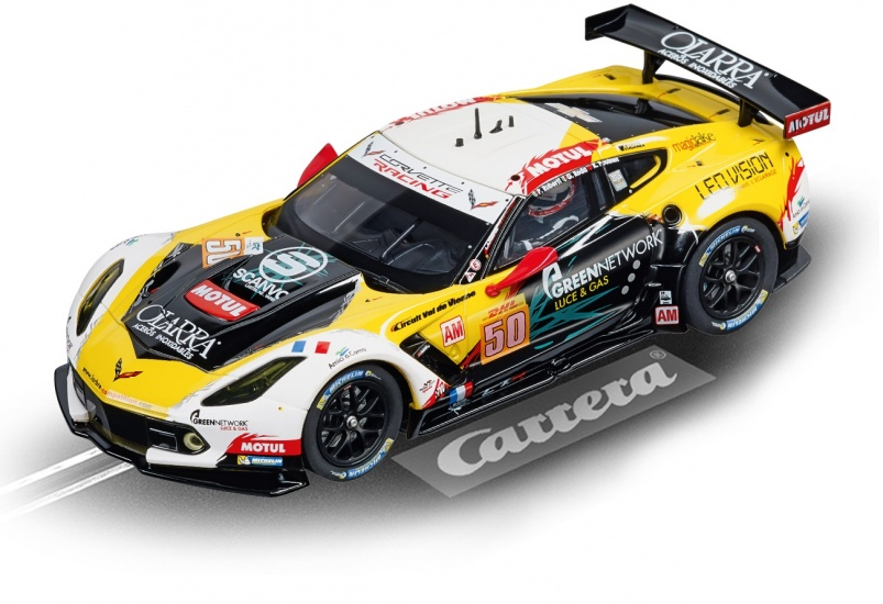 Carrera Evolution racebaan auto Chevrolet Corvette C7.R geel