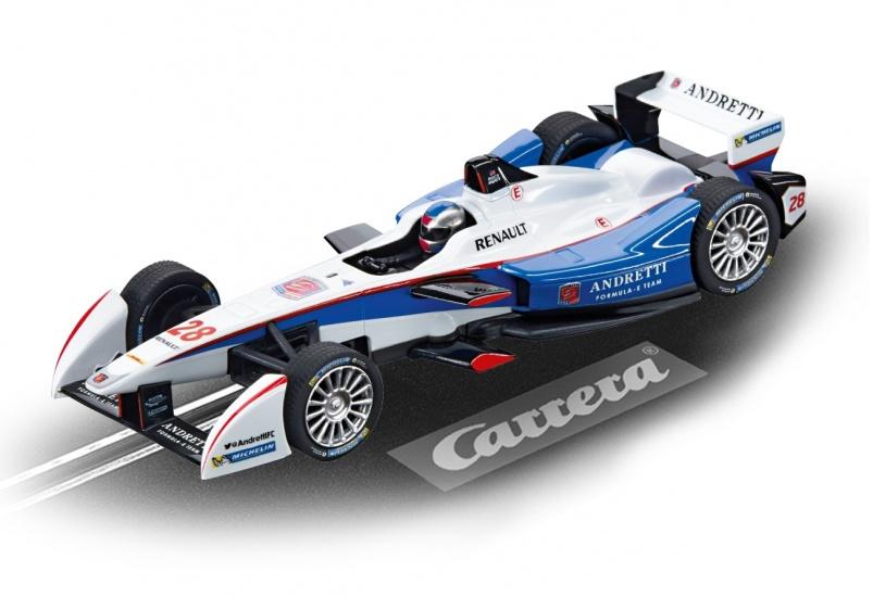 Carrera Evolution racebaan auto Formule E M.Andretti No.28