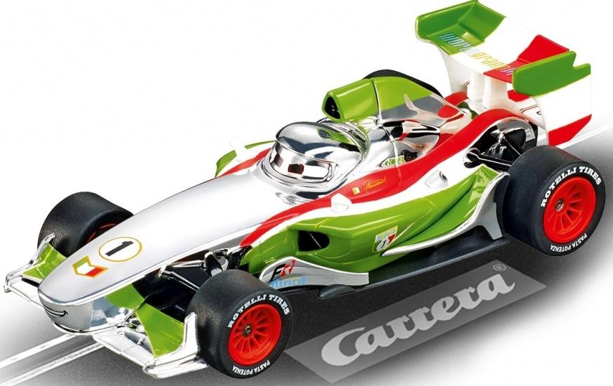 Carrera Go racebaan auto Francesco Bernoulli Cars zilver/groen