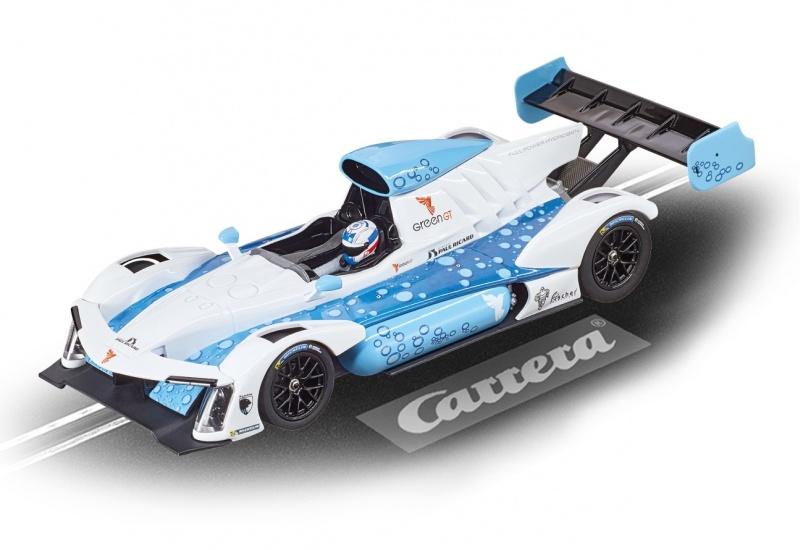 Carrera Go racebaan auto GreenGT H2 P. Ricard 2015 wit