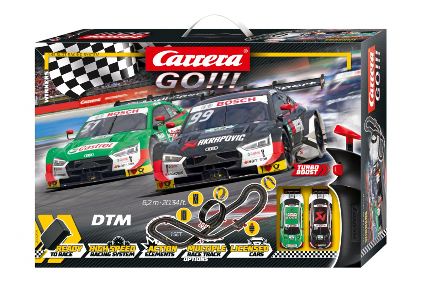 GO! racing track set DTM Winners 620 cm black