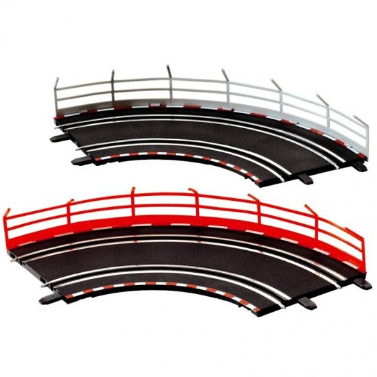 Carrera Go Vangrailschermen kunststof grijs/rood