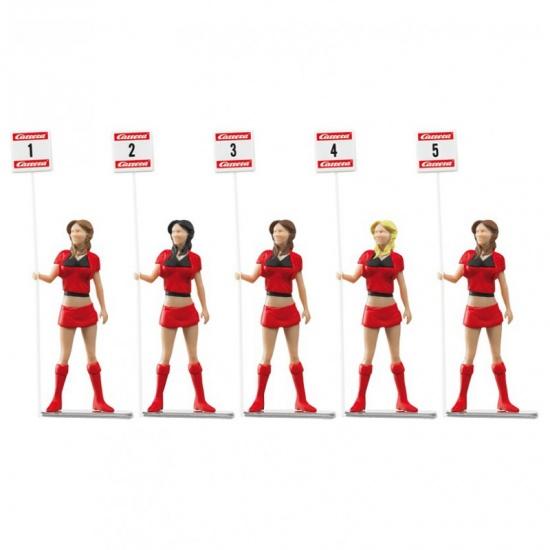 Carrera Grid dames 5 poppen met een lengte van 5,5 cm