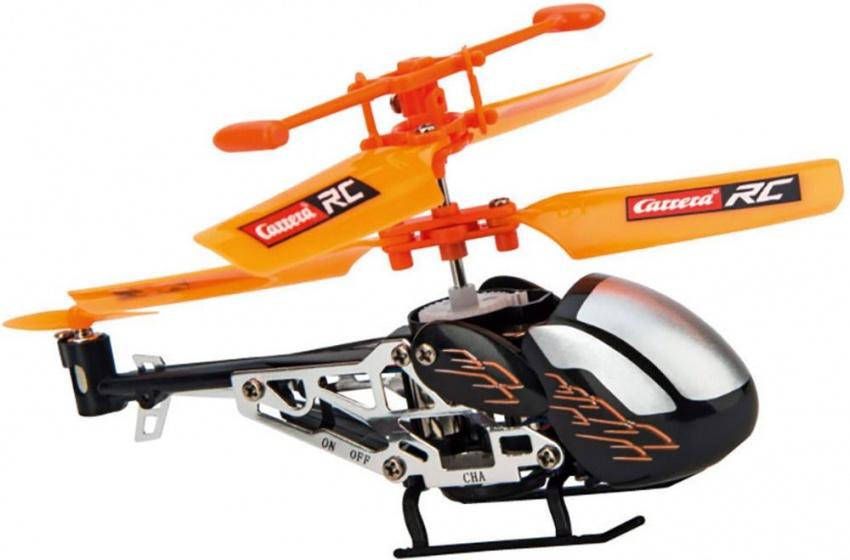 Carrera Micro RC helikopter zwart lengte 8,5 cm