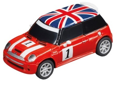 Carrera Mini Cooper S RC auto rood 1:43