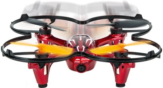 Carrera quadrocopter RC Video One drone rood/zwart 13 cm