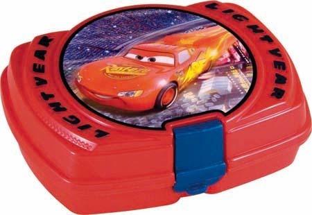 Disney Cars broodtrommel kunststof 6 x 13,5 x 17 cm rood