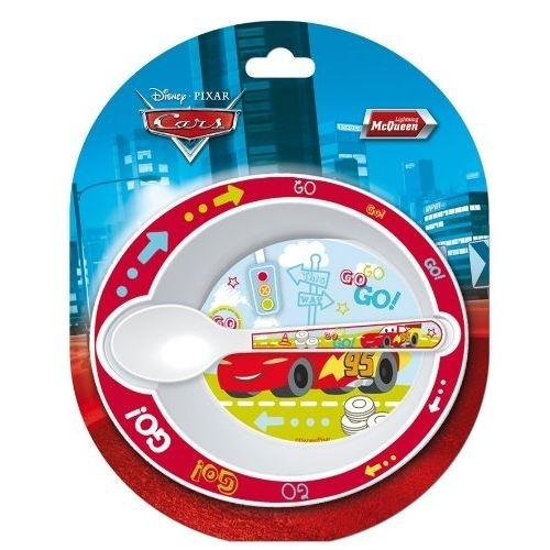 Disney Cars eetset kunststof 2 delig wit/rood