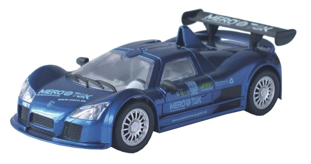 Cartronic 124 Racebaan Auto Apollo Gumpert blauw