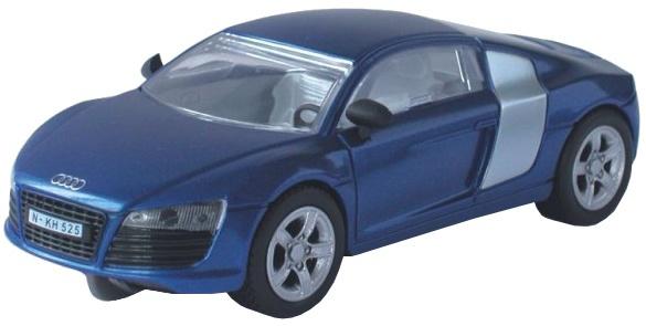 Cartronic 124 Racebaan Auto Audi R8 blauw