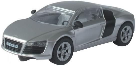 Cartronic 124 Racebaan Auto Audi R8 zilver