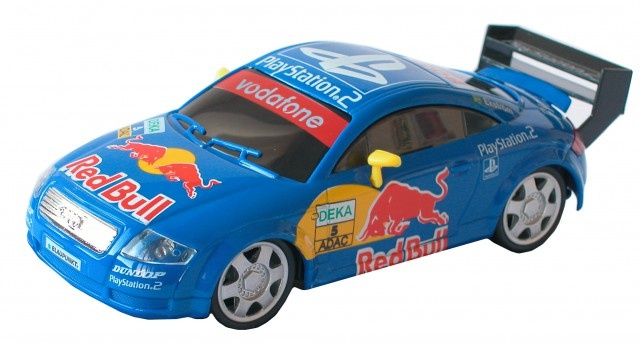 Cartronic 124 Racebaan Auto Audi TT Red Bull blauw