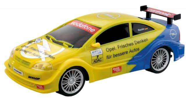 Cartronic 124 Racebaan Auto Opel Astra V8 geel