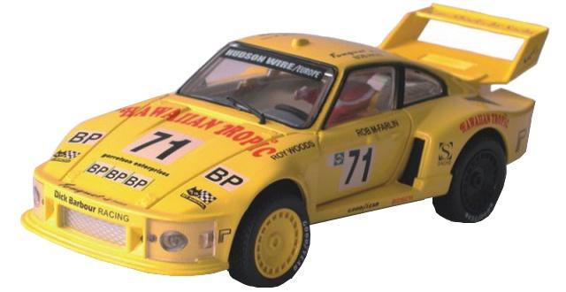 Cartronic 124 Racebaan Auto Porsche Turbo 935 geel