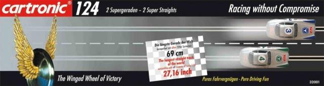 Cartronic 124 Superstraight 2 delig zwart 69 cm