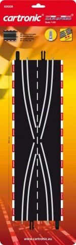 Cartronic Car Speed Baanwissels 35,4 cm 2 delig zwart