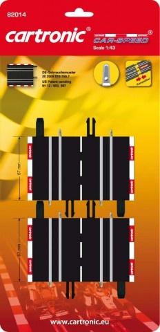 Cartronic Car Speed korte baandelen 2 delig 6,7 cm zwart
