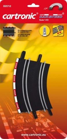 Cartronic Car Speed Looping 45 graden 2 stuks zwart