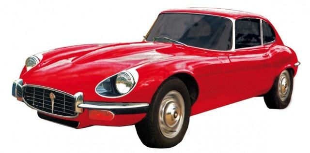 Cartronic Car Speed racebaan auto Jaguar E Type rood