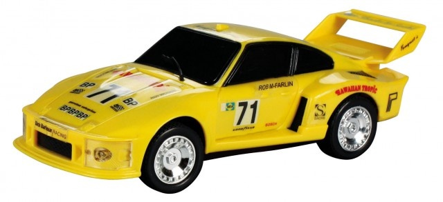 Cartronic Car Speed racebaan auto Porsche turbo 935 geel