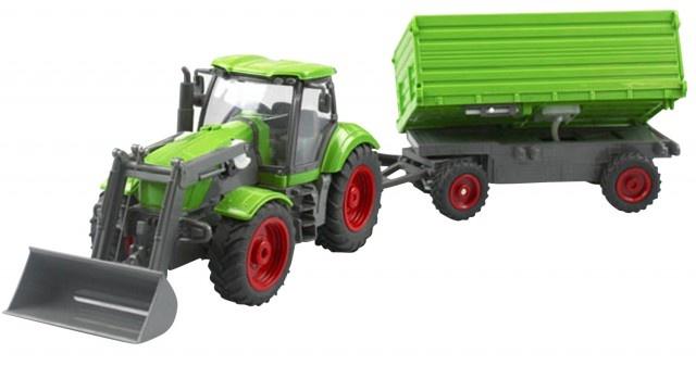 Cartronic RC landbouw traktor 49 cm groen