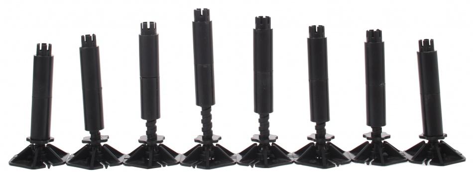 Cartronic Steunen verstelbaar 8 delig zwart 11,5 cm