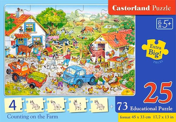 Castorland leerpuzzel Counting on the Farm 98 stukjes