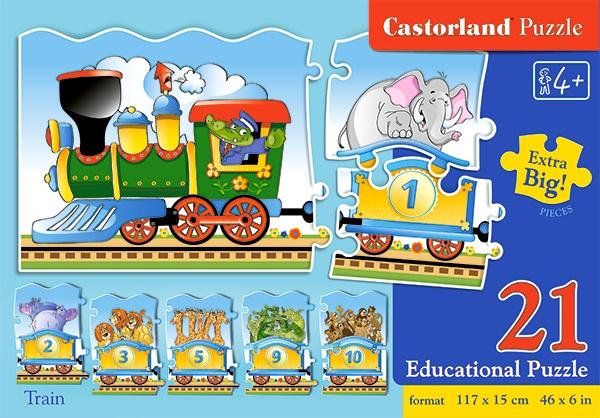 Castorland leerpuzzel Train 21 stukjes