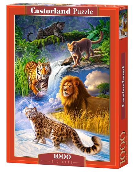 Castorland legpuzzel Big Cats 1000 stukjes