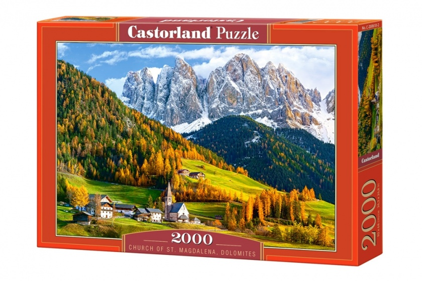 Castorland legpuzzel Church of St. Magdalena, Dolomites 2000 stukjes