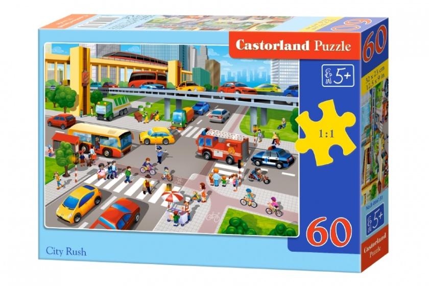 Castorland legpuzzel City Rush 60 stukjes